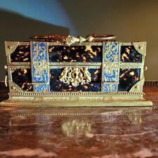French Palais Royal Enameled Ormolu Jewelry Casket Box
