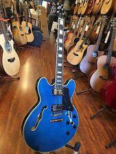 Wolf KSA50 Transparent Blue Semi-Hollowbody (ES-335 style) Electric Guitar