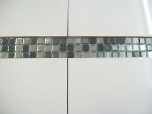 Mirror Glass Mosaic Border Tiles - Mirror Mix - Ultra Shine - Glitter Finish