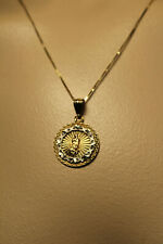 14K WHITE/YELLOW GOLD  MOTHER MARY NECKLACE 18""