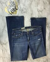 AG Adriano Goldschmied Womens 30R Angel Boot Cut Distressed Wide Leg Denim Jeans