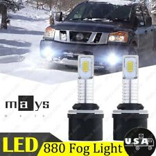 For Nissan Titan 2005-2015 2x 880 890 899 35W White Led Fog Light Bulbs(Fits: Neon)