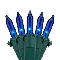 50 Blue Christmas Lights Set Mini Holiday String Light 35FT Super-Bright Box