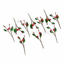 10X Artificial Berries Fruit Decoration Wedding DIY Fake Flowers Leaves Branch