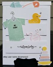 WELCOME BABY HANDMADE CARD, STAMPIN' UP SOMETHING FOR BABY, DRESSER, CHEST