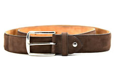 ShoePassion Classic Mens Suede Leather Belt Brown Size 34