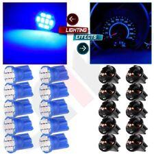 10pcs Blue T10 194 168 LED Bulbs Instrument Gauge Cluster Dash Light W/ Sockets