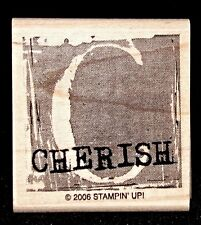 Cherish Letter C Rubber Stamp Single Tag Size by Stampin Up A is for Adorable