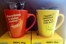 M&M M&M's 2 Tassen Everything Inside Rot und Gelb Ovp Kaffeetassen Becher Mug