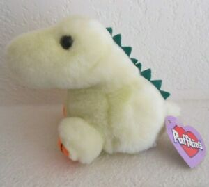 PLUSH DINKY YELLOW PUFFKIN DINOSAUR RETIRED 1997 SWIBCO
