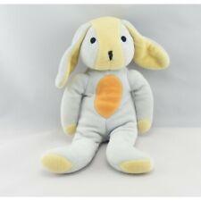 Doudou chien lapin bleu jaune orange  - Chien-Loup-Renard Classique