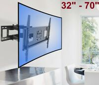 Curved UHD ULED TV Wall Mount Swivel LCD LED Full Motion 40 42 48 50 55 60 65 70