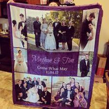 High Quality Custom Photo Wedding Fleece Blanket Gift Blanket