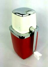 Swing-A-Way Ice Crusher Red & White Vintage Ice Gadget Kitchen Gadget Complete
