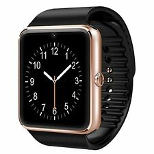 Smart Watch Cell Phone iPhone Android Samsung Bluetooth Tablet PC Gold NEW