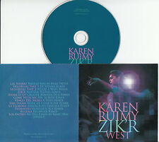 KAREN RUIMY Zik'r West 2015 UK 12-trk promo test CD Groove Armada Scruff Spinna