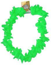 Neon Green Hawaiian Leis Hawaii Neck Garland Hula Girl Fancy Dress