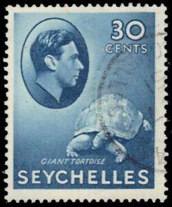 "SEYCHELLES 139a (SG142a) - KGVI ""Giant Tortoise"" 1941 Printing (pf11894)"