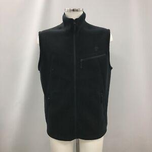 Timberland Fleece Jacket Men XL Navy Sleeveless Pockets Zip Casual 293427