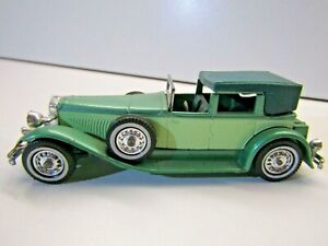 Matchbox Models of Yesteryear Y-4 1930 Duesenberg Model J Green / Green Die Cast