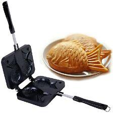 2 Sided Japanese Taiyaki Fish Shaped Casting Mold Pancake Waffle Maker