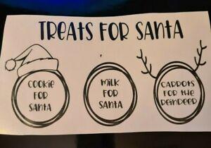 treats for santa Christmas eve fun plate VINYL DECALS gift diy home