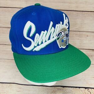 Seattle Seahawks Mitchell & Ness NFL Retro 90s 100% Wool Snapback Hat Cap New