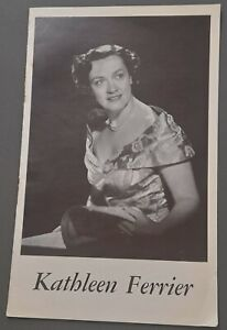 c1953 Kathleen Ferrier Leaflet Listing all recordings of her made by Decca