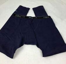 Dri Wear Mens Winter Fleece Lined Thermal Long John Pants Sz XL Blue