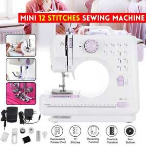 12 Stitches Portable Electric Sewing Machine Multi-function Desktop LED Home Kit