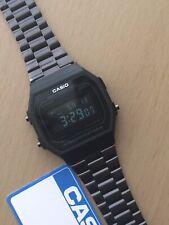 Genuine CASIO Retro Classic Unisex Digital Steel Watch-A168WA-1YES Black