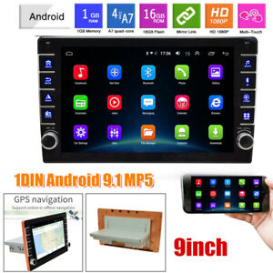 Android 9.1 9in Single 1DIN Car Stereo MP5 Radio Player GPS Navi Wifi Universal
