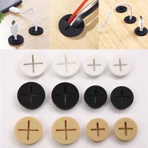 1Pc Rubber Grommets Desk Cord Grommet Flexible Silicone Cable Hole Cover black