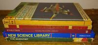 5 Vtg Science Books Hc Textbooks The Scientist New Science Library ex-lib