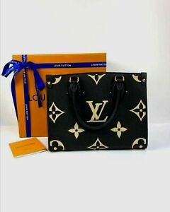 Louis Vuitton ONTHEGO PM BAG Monogram Empreinte Bicolor Leather