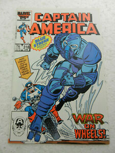 Captain America #318 Blue Streak VF 8.0 1986 Marvel Comics