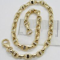 Bracelet en or Jaune et Blanc 18K 750 Tricoté Traverse Made IN Italy