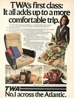 1979 Original Advertising' American Twa American Airlines First Class