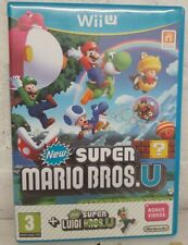 New Super Mario Bros brothers + Luigi U   Nintendo Wii U V.good condition.