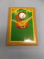 5 x7 plaque oak finish award trophy full color baseball theme personalized