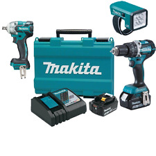 Makita 18V Cordless Brushless 1/2'' wrench hammer drill kit with bonus tourch