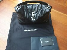 Saint Laurent LouLou Small Puffer Bag Black Lambskin, Silver Hardware As New...