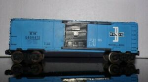 VINTAGE Lionel BM 6464475 Boston and Maine Blue Boxcar