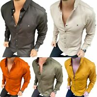 MEGAMAN Herren Hemd | Landarmhemd | Business Hemden Freizeit | Slim Fit