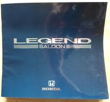 HONDA LEGEND SALOON orig 1989 UK Mkt Large Format Glossy Prestige Sales Brochure