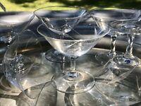Antik Vintage 60er 6x Likörschalen Gläser fein geschliffen EDEL Glas