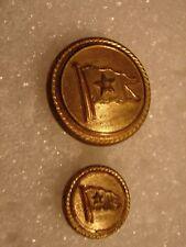 Original 1912 WHITE STAR LINE Titanic & Olympic Uniform Buttons- Set of 2
