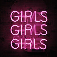 "10""x10""GIRLS GIRLS GIRLS Neon Sign Light Party Home Room Wall Hanging Artwork"