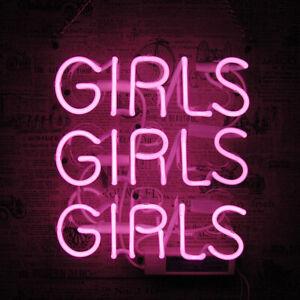 "10""x10""GIRLS GIRLS GIRLS Neon Sign Light Party Home Room Wall Hanging Artwork"