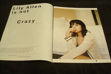 LILY ALLEN 2014 article & David Bowie, Alice Cooper, Grace Jones & ED SHEERAN